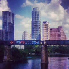 Photo taken at Pfluger Pedestrian Bridge by Avery S. on 9/27/2012