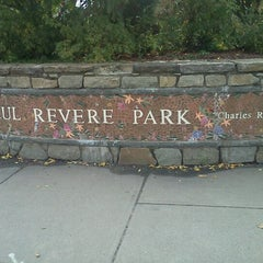 Photo taken at Paul Revere Park by Ashley on 10/15/2012