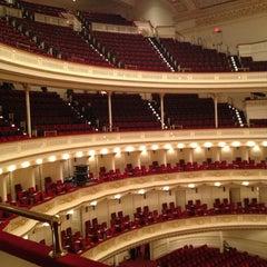 Photo taken at Carnegie Hall (Stern Auditorium/Perelman Stage) by Lauren B. on 10/26/2012