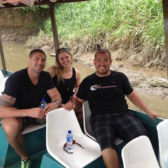 Photo taken at Jose's Crocodile River Tour by Croocodile T. on 9/12/2014