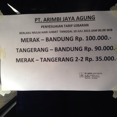 Photo taken at Pool Bus Arimbi/Bima Suci/AJA by Ruden F. on 7/13/2015