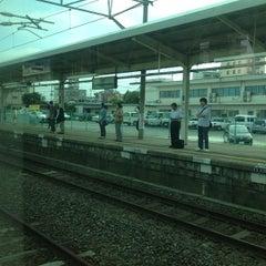 Photo taken at 牛久駅 (Ushiku Sta.) by Leon Tsunehiro Yu-Tsu T. on 6/27/2013