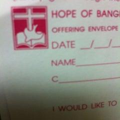 Photo taken at Hope Bangkok Church (คริสตจักรความหวังกรุงเทพฯ) by pry 1. on 12/9/2012