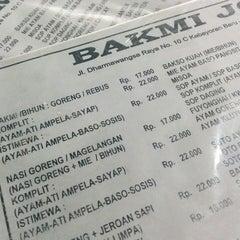 Photo taken at Bakmi Jogja by Syafaat Y. on 8/26/2014