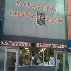 Photo taken at Lafayette Coney Island by Stephanie W. on 7/19/2013