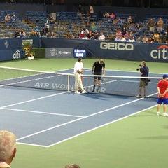 Photo taken at William H.G. Fitzgerald Tennis Stadium by Andrew M. on 7/31/2013