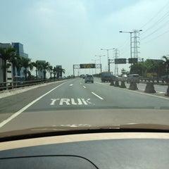 Photo taken at Jalan Tol Ir. Wiyoto Wiyono, M.Sc. by Ela E. on 8/16/2013