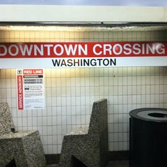 Photo taken at MBTA Downtown Crossing Station by Donald W. on 11/21/2012