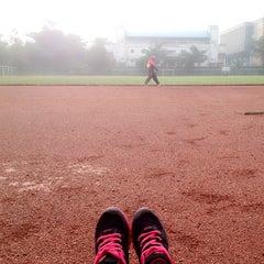 Photo taken at Gelanggang Olahraga Bumi Siliwangi UPI by Amelia N. on 4/3/2015