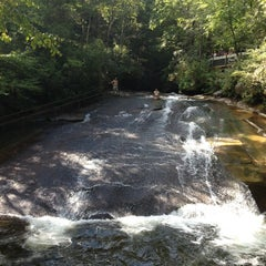 Photo taken at Sliding Rock by Andrew C. on 9/22/2013
