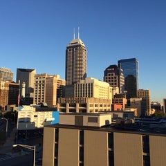 Photo taken at Bankers Life Fieldhouse Parking Garage by Aaron on 10/8/2013