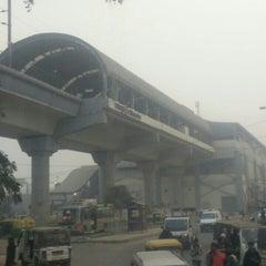 Photo taken at Qutab Minar Metro Station by Abhishek R. on 1/24/2016