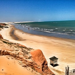 Photo taken at Praia de Canoa Quebrada by Lucas L. on 1/30/2013