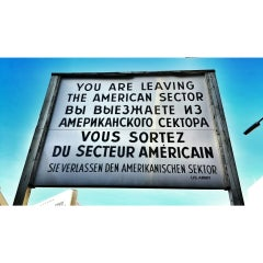 Photo taken at Checkpoint Charlie by Alkım on 3/22/2015