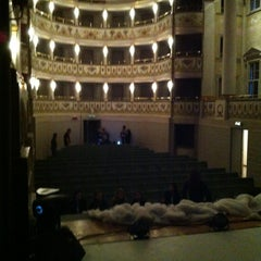 Photo taken at Teatro Accademico by Federica on 12/8/2013