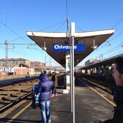 Photo taken at Stazione Chivasso by Roby on 12/28/2014