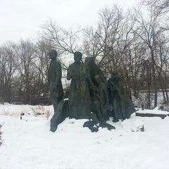 Photo taken at Underground Railroad Sculpture by Brian R. on 2/10/2013