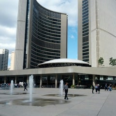 Photo taken at Nathan Phillips Square by Luc L. on 10/1/2012