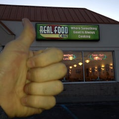 Photo taken at Real Food Cafe by Brian C. on 3/5/2013