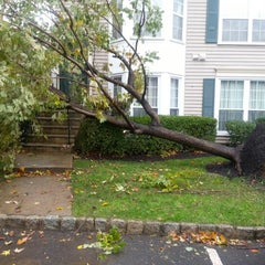 Photo taken at Frankenstorm Apocalypse - Hurricane Sandy by Summergrl on 10/30/2012