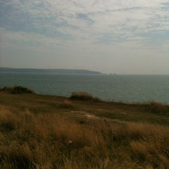 Photo taken at Hordle Cliff West by Nathan S. on 8/8/2013