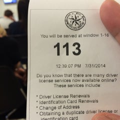 Photo taken at DPS - Texas Department of Public Safety by Tan N. on 7/31/2014