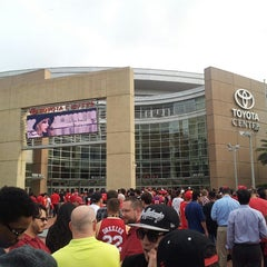 Photo taken at Toyota Center by Tan N. on 4/9/2013