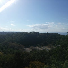 Photo taken at 眉山公園 by Hiroki E. on 9/28/2013