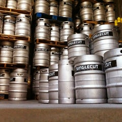 Photo taken at SingleCut Beersmiths by Adam K. on 4/6/2013