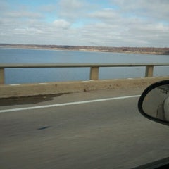 Photo taken at Mile Long Bridge by Niki M. on 10/20/2012