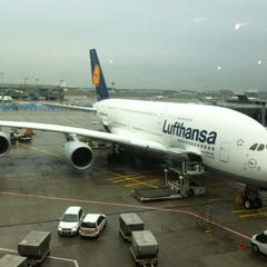Photo taken at Lufthansa Flight LH 720 by René M. on 10/26/2012