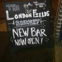 Photo taken at London Fields Brewery by Viliano F. on 12/8/2012