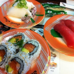 Photo taken at Sushi Train by Shireen on 3/16/2013