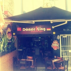 Photo taken at Döner King by Clara C. on 12/21/2012