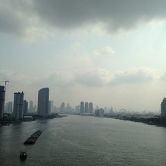 Photo taken at สะพานพระราม 3 (Rama III Bridge) by LiBra G. on 3/28/2013