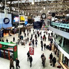 Photo taken at London Waterloo Railway Station (QQW) by Euy Suk K. on 10/11/2012