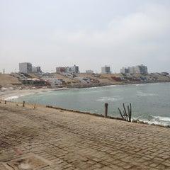 Photo taken at Playa Señoritas by Fred H. on 1/6/2013