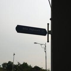 Photo taken at Jalan Diplomatik, by Wani on 3/11/2013