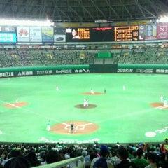 Photo taken at 福岡ヤフオク!ドーム (Fukuoka Yafuoku! Dome) by ちろたん on 9/30/2012