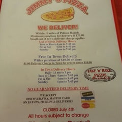 Photo taken at Jimmy's Pizza by Jim C. on 5/9/2013