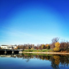 Photo taken at Delaware Park by Andrea C. on 11/15/2012