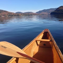 Photo taken at Lake Placid Marina by Audrey M. on 10/3/2013