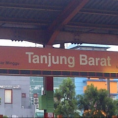 Photo taken at Stasiun Tanjung Barat by Ika S. on 4/25/2013