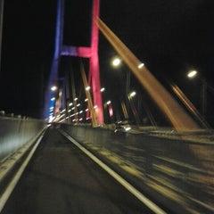 Photo taken at Jembatan Suramadu (Suramadu Bridge) by Felisitas  Flora S. on 11/16/2012