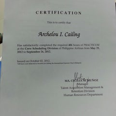 Photo taken at Philippine Airlines Head Office by Archelou C. on 10/2/2012