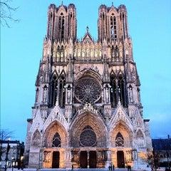 Photo taken at Cathédrale Notre-Dame de Reims by Vincent B. on 11/22/2012