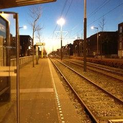 Photo taken at Tramhalte Vennepluimstraat by Iris v. on 1/13/2013
