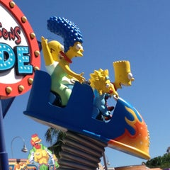 Photo taken at The Simpsons Ride by Tatyana on 5/5/2013