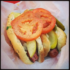 Photo taken at The Wiener's Circle by Adam D. on 8/12/2013