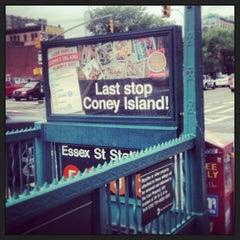 Photo taken at MTA Subway - Delancey St/Essex St (F/J/M/Z) by Ajax on 6/30/2013